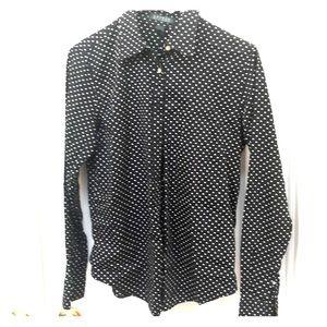 Ralph Lauren black blouse, size M
